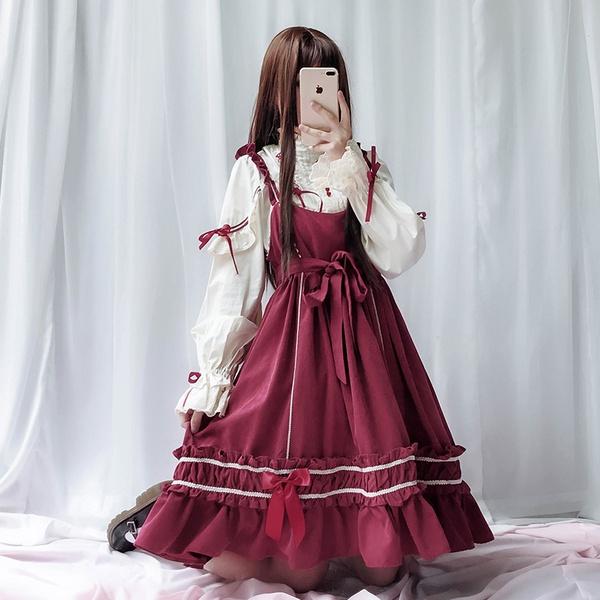 洛丽塔全套_洛麗塔洋裝lolita全套軟妹公主日常裝lo裙蘿莉塔裙子cosply服裝女 ...